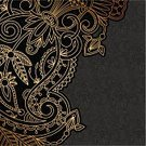 Ornate,Baroque Style,Curve,Greeting Card,Skill,Backgrounds,Luxury,filigree,Pattern,Black Color,Elegance,Art,Gold Colored,Dark,Old-fashioned,Decoration,Invitation Card,Vector,Floral Pattern,Abstract,Arabic Style,Ilustration,Antique,Curled Up