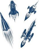Rocket,Spaceship,Space Shuttle,Satellite Dish,Retro Revival,Silhouette,Ilustration,Cartoon,Single Object,Aerospace Industry,Symbol,Space Travel Vehicle,Astronaut,Space,Travel,Vector,Futuristic,Flame,Air Vehicle,Isolated,Galaxy,Speed,Flying,Taking Off,Exploration,Missile