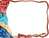 Bandana,Frame,Lasso,Lariat,Multi Colored,Variation,Rope,Western Attire,Group of Objects,Fashion,No People,Copy Space,Cut Out