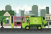 Garbage,Truck,Collection,Obsolete,Wheelie,Men,Unpleasant Smell,Machinery,dispense,Garbage Can,Operating,Problems,Town,Land Vehicle,municipal,Street,Occupation,Old,Social Issues,Cleaning