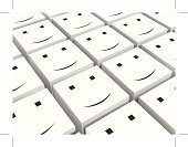 Human Resources,Working,Happiness,Smiley Face,Smiling,Ilustration,Group Of People,Vector,Teamwork,Smirking,Togetherness,Concepts And Ideas,Black Block,Cheerful,White,Cube Shape,Partnership