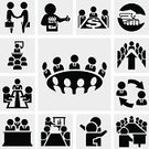 Board Room,Symbol,Conference Table,Business Meeting,Staff Meeting,CEO,Business Person,Vector,Business,Discussion,People,Office Worker,Meeting People,Social Services,office people,Human Resources,working people,Businessman,business team,Seminar,Personal Training,Greeting,Making Money,Teamwork Concept,business icons,Teamwork,Meeting Business,office icons