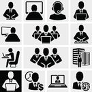 Symbol,Office Worker,Laptop,Desk,Men,Occupation,Administrator,Vector,Abstract,Director,Collection,Computer Graphic,Businessman,Ilustration,office people,Sign,People Icons,Clip Art,people silhouette,People,Business,Human Face,Teamwork