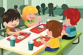 Cafeteria,Child,Eating,Food,Breakfast,Education,School Building,Lunch,Cartoon,Coffee Break,Vector,Healthy Eating,Togetherness,Meal,Modern,Clip Art,Ilustration,Drawing - Art Product,Friendship,Little Boys,Little Girls,Bacon,Lettuce,Sitting,Tomato,Drink,Student,Indoors,People,Eggs