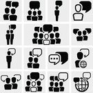Discussion,Talking,Symbol,Group Of People,Human Resources,Communication,Clip Art,Speech,Businessman,Men,Ilustration,Vector,Abstract,Manager,Web Page,resource,Business,tell,user,People,Teamwork,Meeting,Leadership,Computer Graphic