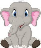 Young Animal,Vector,Posing,Mascot,Ilustration,Cartoon,Characters,Safari Animals,Mammal,Doll,Animals In The Wild,Looking At Camera,Friendship,Cute,Newborn,Cheerful,Gray,Elephant,Animal,Toy,Humor,Happiness,Playing,Playful,Fun,Large,Sitting