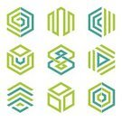 Abstract,Symbol,Computer Icon,Hexagon,Business,Flat,Insignia,Sparse,Vector,Design Element,Environmental Conservation,Two Colors,Internet,Turquoise,Colors,Modern,Green Color,Shape,Creativity,Ilustration