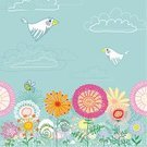 Bird,Floral Pattern,Flower,Vector,Art,Backgrounds,Single Flower,Easter,Springtime,Child,Kids - Charity Organization,Lifestyles,Decoration,Blue,Drawing - Art Product,Meadow,Growth,Green Color,Cheerful,Summer,Dividing Line,Field,Fun,Beautiful,Chamomile Plant,Pencil Drawing,New Life,Putting Green,White,Spring Shoe Store,Lush Foliage,Ilustration,Image,Design Professional,Leaf,Day,Non-Urban Scene,Single Line,Spring - Flowing Water,Urban Scene,Design,Nature,Playing Field,Animated Cartoon,Life,Cartoon,Chamomile,Waiting In Line,Cute,Season,Spring,Springs,Town Of Spring,Plant,Dandelion