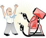 Bank Robber,Thief,Fuel Pump,Finance,Fossil Fuel,Arms Raised,Ilustration,Business,Gasoline,Stealing,Concepts,Vector,Men,White Background,aciculum,Anthropomorphic,Well-dressed,People,Ideas,Red,Shock,One Person,Adult