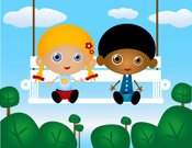 Child's Drawing,Children Only,Child,Swing,Cartoon,Multi-Ethnic Group,Couple,Pre-Adolescent Child,Preschooler,Toddler,Swinging,Drawing - Art Product,Elementary Age,Tree,Characters,Ethnic,African Ethnicity,Cloud - Sky,Vector,Friendship,Illustrations And Vector Art,Vector Cartoons,Happiness,Sky,Cheerful,handcarves,People,Caucasian Ethnicity,Lifestyle,aciculum,Babies And Children