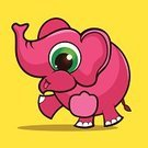 Zoo,Elephant,Animal,Cartoon,Abstract,Vector,Ilustration,Characters