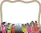 Cinco De Mayo,Frame,Musical Instrument,Celebration,Musician,People,Multi Colored,Copy Space,Cut Out,Dancing