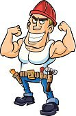 Cartoon,Carpenter,Male,Cheerful,Happiness,Engineer,Painter,People,Strength,Construction Worker,Ilustration,Tool Belt,Mascot,Men,Work Helmet,Characters,Service,Equipment,Adult,Smiling,Mechanic,Building Contractor,Home Improvement,Decorating,Caucasian Ethnicity,Craftsperson,Occupation,Manual Worker,Construction Industry,Improvement,Isolated