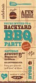 Barbecue,Barbecue Grill,Invitation,Front or Back Yard,Backgrounds,Poster,Retro Revival,Old-fashioned,Party - Social Event,Event,Design,Typescript,template,Textured,Ilustration,Celebration,Vector,Decoration,Single Word,Ornate,Design Element,Elegance,Text,Greeting Card