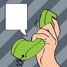 Pop Art,Comic Book,Business,Scale,Telephone,Clip Art,Receiving,Listening,Vector,Dialing,Talking,Holding