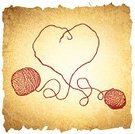 Wool,Heart Shape,Love,Rope,Old-fashioned,Grunge,Textile,Symbol,Knitting,Hobbies,Abstract,Valentine's Day - Holiday,Creativity,Cotton