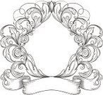 Banner,Scroll Shape,Nobility,Drawing - Art Product,Baroque Style,Floral Pattern,Vignette,Engraved Image,Decoration,Design,Ilustration,Retro Revival,Vector,Victorian Style,Pattern,Leaf,Classic,Old-fashioned,Rococo Style,Ornate,Frame,Cartouche