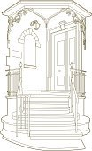 Mansion,House,Built Structure,Drawing - Art Product,Entrance,Door,Staircase,Steps,Entrance,Plan,Old-fashioned,Architecture,Vector