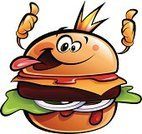 Cheerful,Bun,Happiness,Burger,Vector,Hamburger,Cartoon,Food,Clip Art,Characters,Gourmet,Mascot,Isolated On White,Lettuce,Cheeseburger,Meat,Sandwich,Refreshment,Bizarre,Image,Snack,Thumbs Up,Fast Food,Ketchup,Ilustration,White Background,Fun,Take Out Food,American Cuisine,Isolated,Cheese,Outline,Tomato Sauce,Human Face,Onion,Crown,King,Gesturing,Cool,Humor,Smiling,Beef,Human Tongue,Sauces,Black Color