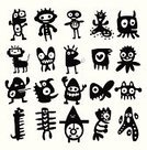 Halloween,Pets,Robot,Space,Vector,Fun,Devil,Demon,Computer Graphic,Fantasy,Small,Dragon,Stencil,Animal,UFO,Doodle,Alien,Cute,Image,Computer,Caricature,Grotesque,Abstract,Backgrounds,Shape,Toy,Symbol,Bacterium,Invaders