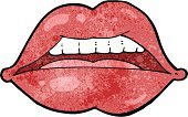 Full,Human Lips,Cheerful,Sign,Symbol,Clip Art,Rough,Lipstick,Ilustration,Doodle,Cute,Drawing - Activity,Bizarre