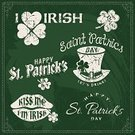 St. Patrick's Day,Republic of Ireland,Northern Ireland,Irish Culture,Blackboard,Clover,Four Leaf Clover,Sign,Cheerful,Happiness,Leprechaun,Green Color,Ilustration,Party - Social Event,Old-fashioned,Retro Revival,Set,Chalk - Art Equipment,Typescript,March,Elegance,Non-Western Script,Vector,Celtic Style,Holiday,Celebration,Love,Classic,Beer - Alcohol,Drunk,Greeting Card,Backgrounds,Computer Graphic,Luck,Springtime,Style,Event,Celtic Culture,Chalk Drawing,Cultures,Symbol,Invitation