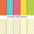 Polka Dot,Yellow,White,Pink Color,Backgrounds,Vector,Wallpaper Pattern,Retro Revival,Orange Color,Ilustration,Blue,Candy Colors,Seamless,Fun Background,Fabric Print,Wallpaper,Textile,Pattern,Green Color