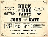 Stag,Retro Revival,Food,Hipster,Old-fashioned,Doe,Event,Celebration,Ilustration,Poster,Vector,potluck,Text,Party - Social Event,Summer,Invitation,Mustache,Design,Eyeglasses,template,Family,Engagement,Vertical,Horizontal,Textured Effect,Backgrounds