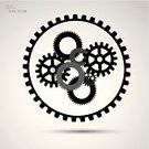 Symbol,Sign,Equipment,Engine,Machinery,Technology,Business,Machine Part,Gear,Backgrounds,Wheel,Circle,Vector