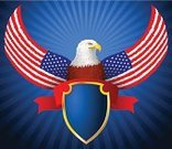 USA,Pride,American Culture,Flag,Feather,Bald Eagle,Eagle - Bird,Symbol,Beak,Animal Eye,Cultures,Strength,Coat Of Arms,Totem Pole,Independence Day,Backgrounds,Insignia,Ribbon,Fourth of July,Ilustration,Poupou Figure,Bird,National Flag,Carnivore,US State Flag,Vector,Wing,Award Ribbon,Shield,Claw