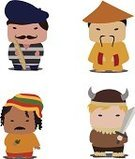 Asia,Men,Hat,China - East Asia,Chinese Culture,Costume,Chinese Ethnicity,Nordic Countries,European Culture,Characters,French Culture,Dressing Up,Real People,Europe,Toy,Work Helmet,Vector,Paris - France,Human Hair,Cultures,France,Sword,Cute,Reggae,Ilustration,Mascot,Music,Traditional Clothing,Childishness,Viking,Jamaica,People,Image,Jamaican Culture