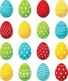 Group of Objects,Holiday,Floral Pattern,Celebration,Abstract,Vector,White Background,Eggs,Set,Paint,Decoration,Cultures,Christianity,Religion,Gift,Spotted,Symbol,Easter,Food,Striped,Shiny,White,Multi Colored,Red,Green Color,Blue,Isolated