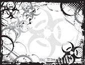 Biohazard Symbol,Poisonous Organism,Danger,Warning Symbol,Circle,Symbol,Distressed,Sign,Textured,Splattered,Scratched,Ilustration,Vector,Grunge,Textured Effect,Warning Sign,Illustrations And Vector Art,Intricacy,Spraying,Ornate,Stained