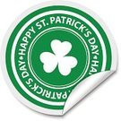 Number 17,March,Label,St. Patrick's Day,Luck,Vector,White,Computer Icon,Clover,Symbol,Celebration,Ilustration,Single Object,Saint,Shadow,Badge,Holiday,Sign,Leaf,Design,Republic of Ireland,Green Color,Backgrounds,Curled Up