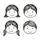 Ilustration,Smiling,Black Color,White,Childhood,Human Face,Isolated,Design,Happiness,Black And White,Cute,White Background,Isolated On White,Vector,Little Girls,Monochrome,Little Boys,Child