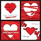 Brochure,Heart Suit,Love,Backgrounds,Valentine Card,Vector