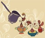 Latte,Drink,Steam,Flower,Mug,Cup,non-alcoholic,Coffee Maker,Crockery,Heat - Temperature,Backgrounds,Ilustration,Handle,Appliance,Mocha,Espresso,Coffee Pot,Cappuccino,Making