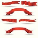 Adhesive Tape,Three Objects,Swirl,Collection,Scroll,No People,Banner,Bow,Set,template,Design,Decoration,Art,Label,Flag,Curly Hair,papper,Ribbon,Part Of,In A Row,Placard,Moving Up,Curve,Shape,Red,Corner