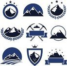 Mountain,Mountain Climbing,Sign,Label,Snowboard,Mt. Everest,European Alps,Mountain Peak,Ice,Vector,Insignia,Snow,Symbol,Hill,Abstract,Winter,Himalayas,Sport,Blue,Shape,Backgrounds