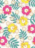 Hibiscus,Seamless,Pattern,Flower,Vector,Single Flower,Backgrounds,Floral Pattern,Wallpaper Pattern,Design,Textile,Leaf,Ilustration,Decor,Fashion,Beauty And Health,Fashion,Decoration,Wrapping Paper,Repetition,Springtime