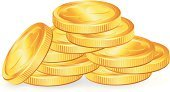 Coin,Gold,Gold Colored,Irish Culture,Stack,Patrick's Day,patrick,Isolated,Patricks Day,Finance,Currency,Vector,Holiday,Computer Icon,Backgrounds