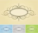 Frame,Ornate,Scroll Shape,Floral Pattern,Swirl,Scroll,Vine,Backgrounds,Elegance,Vector,Old-fashioned,Blue,Victorian Style,Branch,Design,Green Color,Nature,Classical Style,Silver Colored,Curve,Gray,Ilustration,accent,Nature,Illustrations And Vector Art