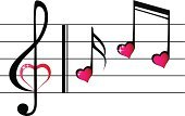 Heart Shape,Music,Musical Note,Treble Clef,Sound,Ilustration,Singing,Creativity,Music Festival,Orchestra,Classical Music,Love,Vector,Reflection,Key,Eps10,Isolated,Treble,Classical Concert,Shiny,Symbol,Concepts