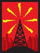 Communications Tower,Communication,Tower,Electricity,Radio Wave,Wireless Technology,Energy,Connection,Design,Built Structure,City,Fuel and Power Generation,Red,Computer Graphic,Radio,Building Exterior,Ilustration,Black Color,Silhouette,Yellow,Broadcasting,Mobile Phone,Symbol,Computer Icon,Microwave Tower,Vertical,Color Image,Repeater Tower,Podcast,Audio Equipment,cell tower,Global Communications,Power,Mobile Phone Base Station,Power Supply,No People
