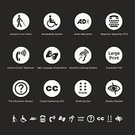 Physical Impairment,Computer Icon,Symbol,Deafness,Blind,Disabled,Human Ear,Human Eye,Hearing Aid,Icon Set,Vector,Telephone,Accessibility,Clip Art,Poor Eyesight,Sign Language Interpretation,Design Element,Braille,Assistance,Eps10,Using Senses,Interface Icons,web icon,White,Design,public facilities,Senior Adult,Ilustration,Wheelchair Access,Wheelchair,Eyesight,Sign Language