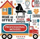 Moving Van,Mover,Moving House,Infographic,Truck,Fragile,Piano,packers,Home Interior,House,People Traveling,Travel,Business Travel,Design Element,Packing,Residential Structure,Luggage,Ilustration,Expertise,Box - Container,Vector,Moving Office,Occupation,Office Interior,Professional Occupation