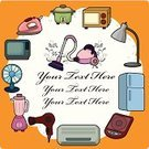 Housework,Air Conditioner,Electric Lamp,Furniture,Appliance,Microwave,Hair Dryer,Decoration,Ilustration,Vector,Massaging,Decorating,Backgrounds,Symbol