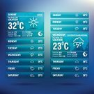 Weather,Connection,user,widget,Chart,Thunderstorm,Lightning,Snow,Infographic,Season,Table,Symbol,Climate,Meteorology,weekly,Vector,Backgrounds,Winter,Summer
