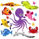 Fish,Cartoon,Sea Life,Animal,Sea,Underwater,Crab,Octopus,Shark,Coral,Sea Horse,Starfish,Cute,Prepared Crab,Fishing,Swimming,Ilustration,Tropical Fish,Seafood,Seaweed,Diving,School of Fish,Tropical Climate,Characters,Animal Themes,Saltwater Fish,Crustacean,Freshwater Eel,Swimming Animal,Saltwater Eel,Multi Colored,Turquoise - Gemstone,Group Of Animals,Seascape,Tropical Fresh Water Fish,Blue,Turquoise,Bodies Of Water,Illustrations And Vector Art,Nature