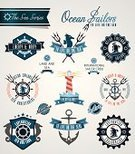 Nautical Vessel,Sailing,Lighthouse,Sign,Anchor,Harbor,Sail,Vector,Exploration,Label,Computer Graphic,Ilustration,amity,insigna,Insignia,Geometric Shape,Sea,Sea Horse,Badge,wind rose